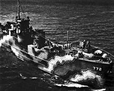 New 8x10 World War II Photo: Starboard Bow View of U.S. Ship LCI 77 in Astoria