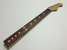 22 Fret Electric Guitar Neck Electric Guitar Parts / Inlaid Red LED Lights