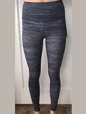Lululemon Size 10 Wunder Under Tight Hi Rise Ice Gray Black BPAB Luxtreme Pant