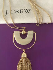 NWT Women's Bead-And-Tassel Pendant Necklace