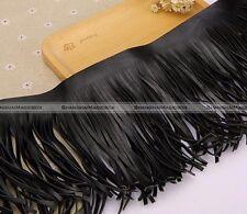 50cm Fringe Suede Leather Trim Lace Dress DIY Craft Clothing Textiles Black S4