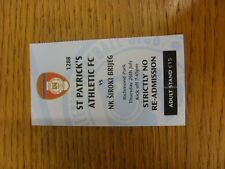 26/07/2012 Ticket: St Patricks Athletic v NK Siroki Brijeg [Europa League] . Tha