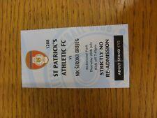 26/07/2012 Ticket: St Patricks Athletic v NK Siroki Brijeg [Europa League] . Tha