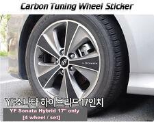 """Carbon Tuning Wheel Mask Sticker For Hyundai YF Sonata Hybrid 17"""" [2010~2012]"""