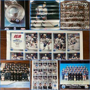 Vintage Edmonton Oilers Posters U-Pick Gretzky Lowe Discount Ship Multiples