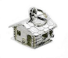 STERLING SILVER OPENING SWISS SKI LODGE CHARM