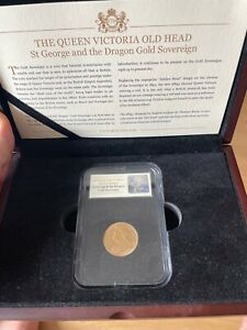 The Queen Victoria Old Head - St George & Dragon Gold Sovereign -1893