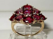 Beautiful Gems TV 9ct Yellow Gold Rhodolite Garnet & Diamond Fancy Cluster Ring