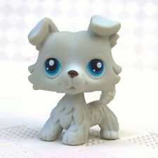 Littlest Pet Shop LPS #363 Collie Dog Blue Eyes Figure Toys White Puppy