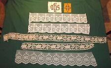 Wholesale Vestment Remnants Vintage Lace Grape Motif IHS Sequins & Cross Patch