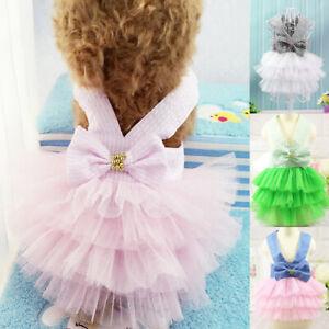 Pet Puppy Small Dog Cat Clothes Tutu Dress Princess Skirt Apparel Costume