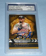 Forrest Griffin Signed UFC 2011 Topps Title Shot Championship Card PSA/DNA Auto