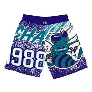 Mitchell & Ness Dark Purple NBA Charlotte Hornets Jumbotron Shorts