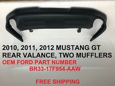 2010 2011 2012 mustang gt 5.0 rear bumper lower valance br3317f954aaw