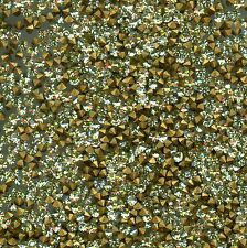 451058 *** 50 STRASS ANCIENS FOND CONIQUE JONQUIL 3mm