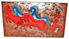 Ruscha Horse & Rider Fat Lava German Space Age Pop Art Psychedelic Wall Tile 70s