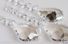 """Pack of 5"" Clear French Crystals Prisms Chain Pendant Chandelier Weddings  6""in"