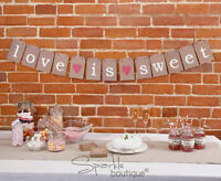 CANDY BUFFET BUNTING-Vintage/Retro Wedding Sweetie Bar Sign-FULL RANGE IN SHOP