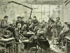 CABARET PERE LUNETTE RUE DES ANGLAIS 1898 Print Matted