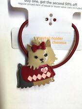 Gymboree New York Girl  Line Puppy Ponytail Holder School Yorkie Dog NWT Cute