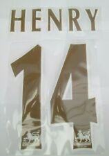 Henry 14 GOLD REDCURRANT Premier league Football Name set for Arsenal Shirt felt