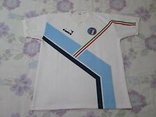 Rare Vintage Italy football shirt size L 1990s white colour Diadora