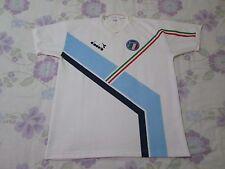 Rara De colección Italia Camiseta de fútbol Tamaño L 1990s Color Blanco Diadora