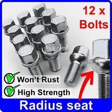 12 x ALLOY WHEEL BOLTS FOR SMART FORTWO COUPE CABRIO / BRABUS NUT STUD LUG [Y30]