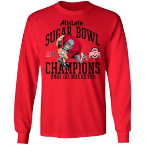 Men's Ohio State Buckeyes Playoff 2021 Sugar Bowl Champions T-Shirt S-5XL