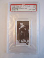 1938 JAKE KILRAIN BOXING CHURCHMAN PSA GRADED 7 NEAR MINT CARD