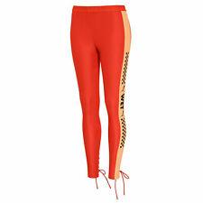 Puma x Rihanna Fenty Womens Side Strip Jersey Tight Leggings Orange 577293 04
