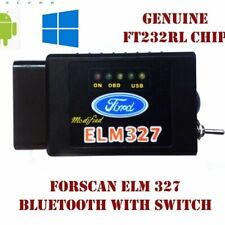 Forscan Elm327 Bluetooth/Wireless Switch Can Bus Scanner Diagnostic FORD MAZDA