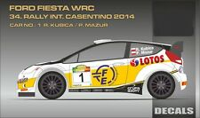 DECALS 1/24 FORD FIESTA WRC #1 KUBICA - RALLYE DE CASENTINO 2014 -MF-ZONE DC2419