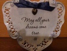 Brownlow Blessed Heart Dream Blue Stand/hang Plate New 2005