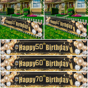 30 40 50 60 Happy Birthday Banner Anniversary Party Supplies Decoration Props