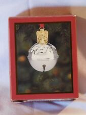 "Lenox ""Just Jingles"" 2""Angel Jingle Bell Ornament~Silver"
