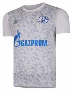 Umbro Football Soccer S04 FC Schalke 04 Mens Warm Up Jersey Shirt 2020 2021