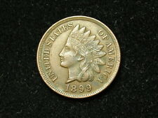 SUMMER SALE!!  XF  1899 INDIAN HEAD CENT PENNY w/ DIAMONDS & FULL LIBERTY #59s
