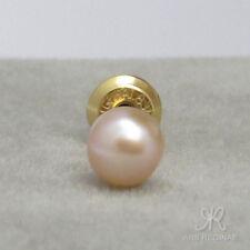 EINZELSTECKER ● 1x 4mm ●  Zucht Perlen Ohrstecker klein rosa ygf 14k Gold 585