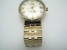 A1045 Handsome Vintage 1962 Omega Seamaster Deville 14k Yellow Gold Unishell Cas