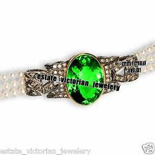 Vintage Estate 5.15cts Rose Cut Diamond Gemstone Studded Silver Jewelry Bracelet