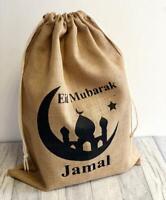 PERSONALISED Custom EID MUBARAK GIFT SACK RAMADAN Celebrate PRESENT Gift Bag UK