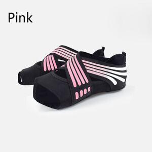 Women Yoga Shoes Wrap Non-slip Pilates Barre Open-toed Dance Soft Cozy  S/M/L