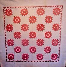 Antique Quilt Hand Done Quilting And Piecing Huge Size Clean