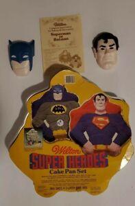 Batman Superman Wilton Super Heros Cake Pan Set DC comics 1981