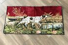 Vintage Hunting Setter Dog Tapestry Wall Hanging 19 X 38