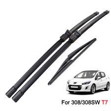 "For Peugeot 308 T7 2007-2013 Front Rear Windshield Wiper Blades Set 30""26""12"""