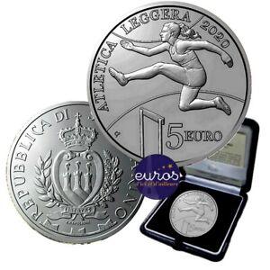 5 euros SAINT MARIN 2020 - Championnats d'Athlétisme - Argent Belle Epreuve