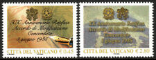 Vatican 1301-1302, MNH. Arms of Vatican City and Italy. Pen, Map, 2005