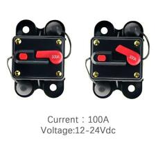 12V-24V DC Circuit Breaker Inline Fuse Inverter Waterproof Manual Reset 100 Amp